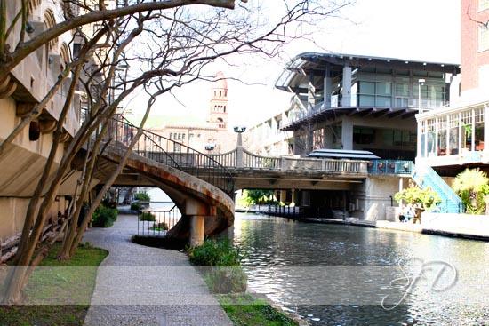 along the Riverwalk