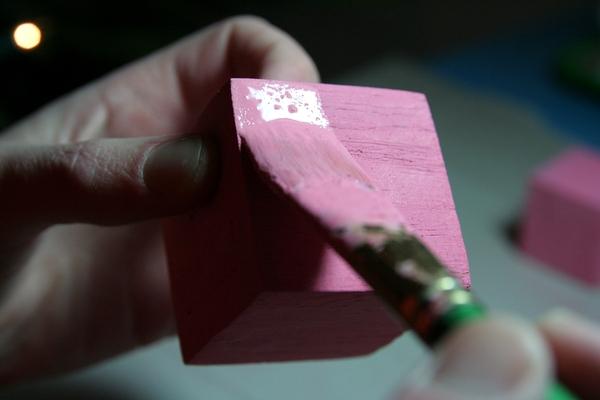 Peinture de la tour rose