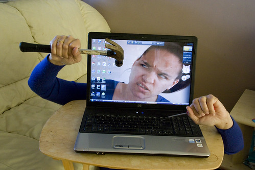 Stupid Computer!!! by f1uffster (Jeanie), on Flickr