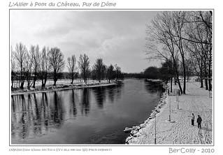 Les bords de l'allier en hiver, Pont du Château