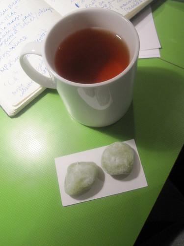 Mochi and tea