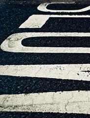 Slow detail (ste.parsons) Tags: road white black detail paint slow line dirt markings cracked