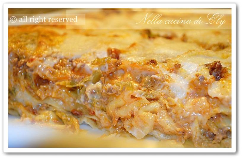 Nella cucina di Ely: Lasagne con le verze e caciocavallo silano