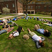 "Class being taught outside Olin<a href=""http://farm5.static.flickr.com/4009/4440295053_bebd44ba8d_o.jpg"" title=""High res"">∝</a>"