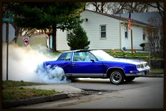 Smoke 'em if you got 'em! (john4kc) Tags: smoke smoking tires burnout olds oldsmobile cutlas cutlasssupreme powerbrake powerbraking
