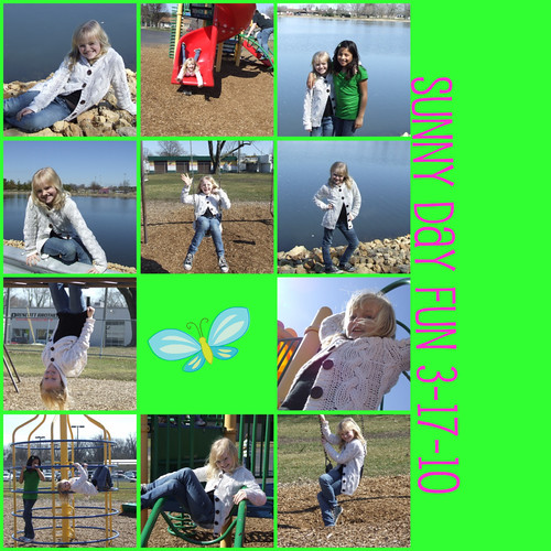 Jilly on St. Pats day collage