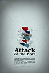 Attack of the bots (SP Grafiks) Tags: illustration typography weird space attack simplicity bizarre