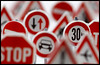 Obey! (hoho0482) Tags: road signs warning slow stop speedlimit restrictions macromondays
