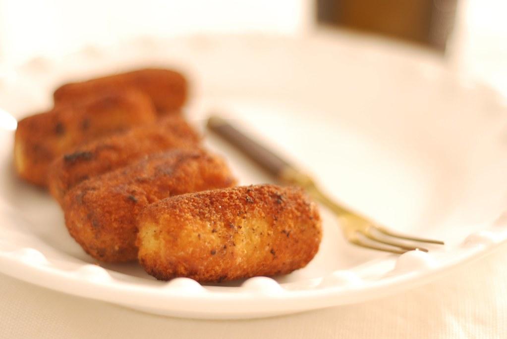 croquetas de pollo y setas