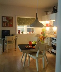 Polly Line's new Lundby kitchen 7, view from the living room