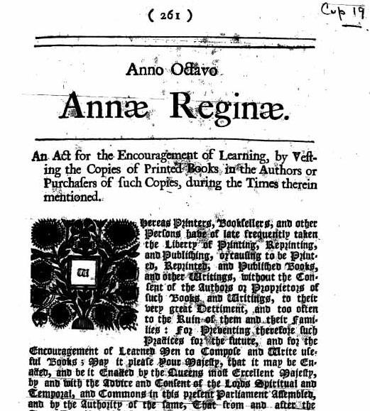 El Estatuto de Ana. La Primera Ley de Derechos de Autor 4452710180_2f674c3e61_o