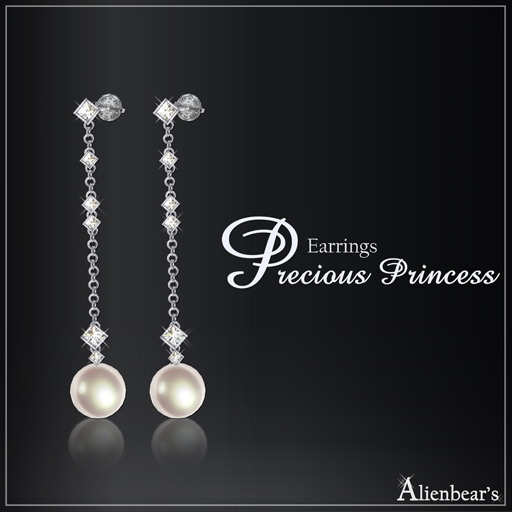 Precious Princess earrings white