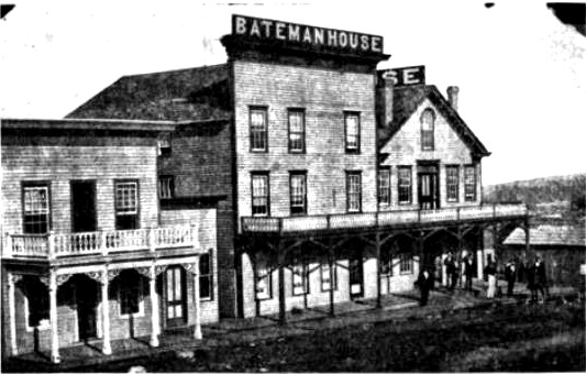 Photograph of one of Joplin's first hotels, the Bateman Hotel