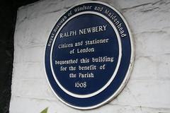 Photo of Ralph Newbery blue plaque