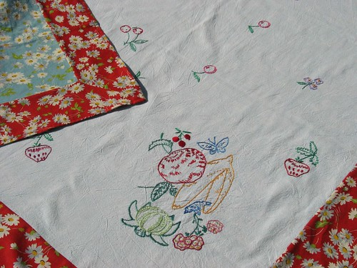 summer embroidered table cloth