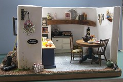 Cornish Kitchen, Magpie Cottage (teresue) Tags: kitchen miniatures miniature cornwall minis aga dollhouse 2010 cornish inglenook magpiecottage