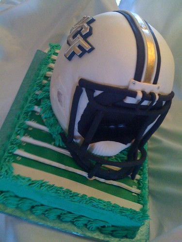 football helmet cake. UCF football helmet cake