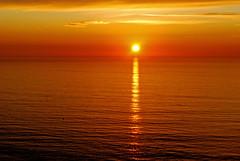 [フリー画像] [自然風景] [海の風景] [夕日/夕焼け/夕暮れ] [水平線/地平線]       [フリー素材]