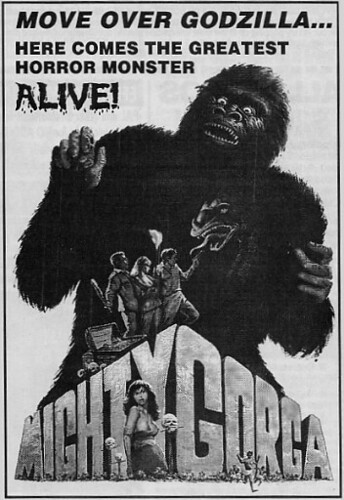 THE MIGHTY GORGA (1969) print ad