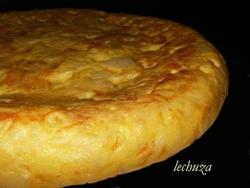Tortilla española detalle.