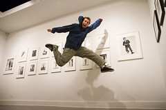 Philippe Halsman's JUMP book gallery opening! shooting jumpshots for my @jumpingbook! (mikehedge.com ) Tags: jump jumping 7d 2010 jumpingproject jumpshot jumpology philippehalsman img6686 mikehedge