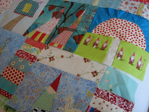 love me some gnomes- Tia made magic with the Heather Ross Spoonflower fabric! Thank you Tia!