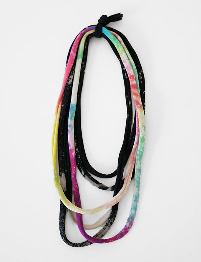 Sunshine and Shadow Tie Dyed Necklace