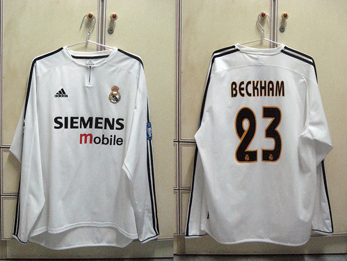 Real Madrid 2003-2004 UCL Home L/S (BECKHAM)