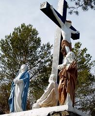 On  the cross (Gloria1207) Tags: trees statue cross praying jesus dying onthecross april2010 gloria1207