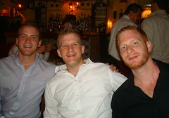 the h brothers (redjoe) Tags: birthday city nyc newyorkcity family boy party food newyork man boys smile night dinner beard restaurant fuzzy brother manhattan smiles westvillage redjoe joehorvath