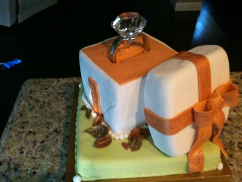 engagement ring cake 2