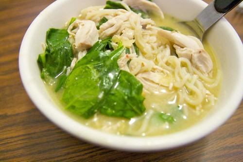 Asian Chicken-and-Spinach Soup