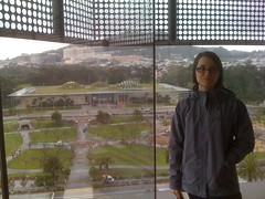Emily overlooking California Academy of Sciences