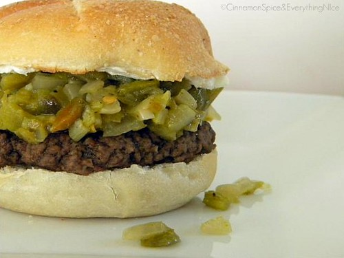 Blogger Burger Club: Green Chile Pepper & Cream Cheese Burger