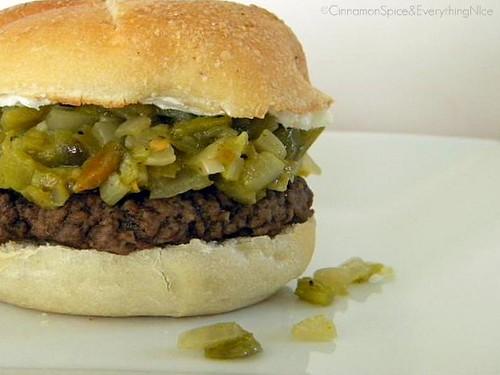 Blogger Burger Club: Green Chile Pepper & Cream Cheese Burger