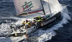 Passage at the Stromboli Vulcano for Intermatica (Lightbay Sailing Team) Tags: malta racing ita sicily vela stromboli middlesearace volvo70 calvinetwork intermatica lightbaysailingteam carloalberini