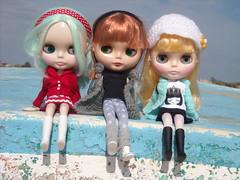Mis niñas en Sanlúcar.