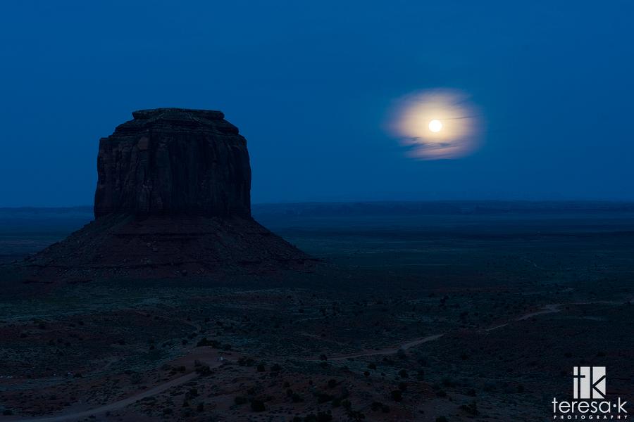 Monument Valley, Utah, Arizona, Full Moon, Red Rock, Teresa K photography