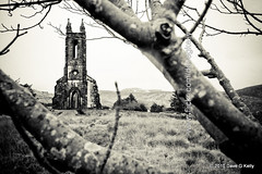 Poisoned Glen (Dave G Kelly) Tags: old travel trees ireland winter bw irish mountain mountains tree abandoned church stone architecture rural canon landscape outside outdoors countryside ancient ruins scenery outdoor branches country religion ruin scenic scene historic glen haunted 5d disused remote canon5d erie poison past picturesque sevensisters height donegal ulster countydonegal mountainous codonegal gweedore mounterrigal canoneos5d traveldestination dunlewy derryveaghmountains republicireland dublinphotographer poisonglen dnnangall errigalmountain davegkelly gettyimagesirelandq1