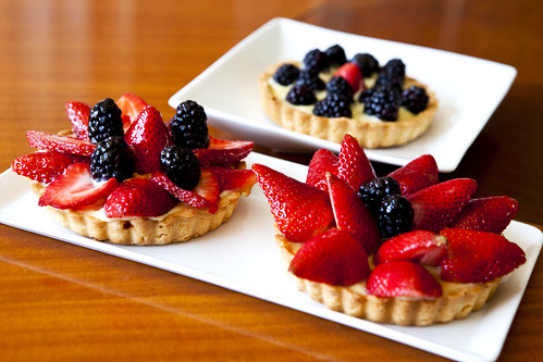 Homemade Strawberry and blackberry tarts