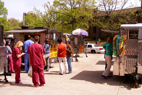 Food Carts Outside Penn Hospital