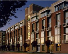 Gateway Lofts in front of Gateway Village parking (via David Furman Architecture)