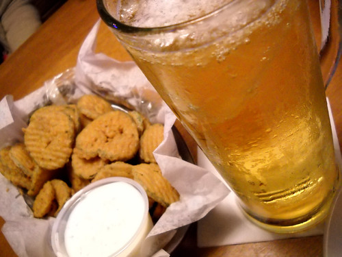 Fried pickles & beer