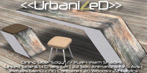 "<<UrbanizeD>> Dining Table Set ""Edgy"" // Pure + Warm Shades"