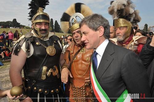 Corteo del Gruppo Storico Romano