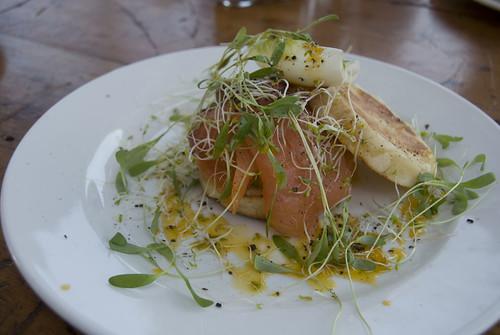 salmon crumpet