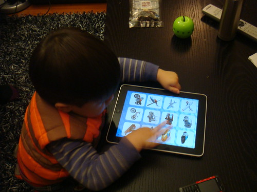 Scott - one of the first iPad toddler fans