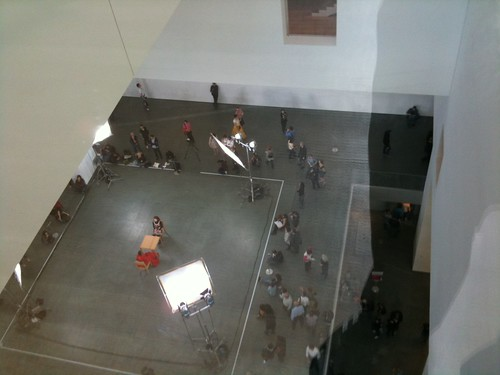 The Artist Is Present, from above, MoMa
