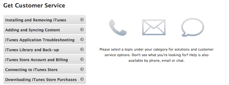 Apple Itunes Phone Issue For Customer Service