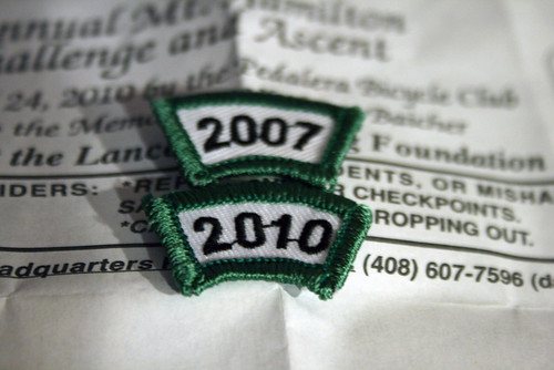 The finishers' patches